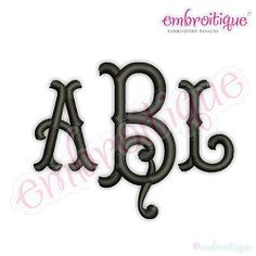 Tillman Monogram Font - 4 Sizes! | What's New | Machine Embroidery Designs | SWAKembroidery.com Embroitique