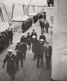 Life Aboard the Titanic | RMS Titanic Remembered.  Captain Smith inspects his officers.