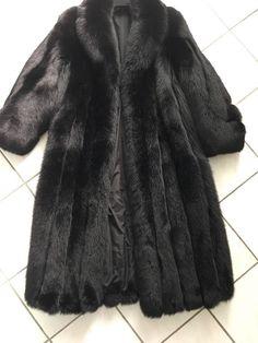 🦊Black Fox Fur 12/14 Full Length / Buy It Now / WILL SHIP TODAY with alpca hat #Saga #FoxFur #Formal