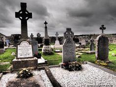 High Crosses in Kilfenora, Ireland.