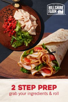 Roll up Hillshire Farm® Oven Roasted Turkey Breast with your favorite ingredients for an easy and delicious lunch.