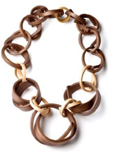 Gustav Reyes - wooden necklace  - entrenous by LE NOEUD www.enbyln.com