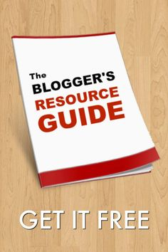 Free Blogger's Resource Guide. It's being offered free right now and really a must have for all bloggers.  This simple guide has all the resources you need in one place. Wish we would have had this when we started.