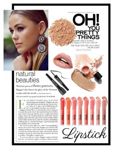 """""""Keep it Natural #springlips"""" by nedixon on Polyvore featuring beauty, MAKE UP FOR EVER and Illamasqua"""