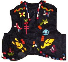 We earned beads and sewed them on our vests in Camp Fire Girls.