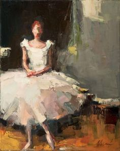 Portrait of a Seated Ballerina - Lisa Noonis