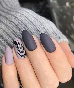 Cute Grey Nail Art Designs to Look Pretty on Parties Cute Grey Nail Art Designs to Look Pretty on Parties More from my site Lovely Grey and Golden Strip Nail Art Designs Cute pink bows with grey and pink nails Slate grey nail art design Grey Nail Art, Matte Nail Art, Dark Grey Nails, Matte Gray Nails, Grey Art, Acrylic Nails Almond Matte, Black And Purple Nails, Dark Nail Art, Gorgeous Nails