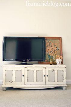 Tv console/ bench re-do