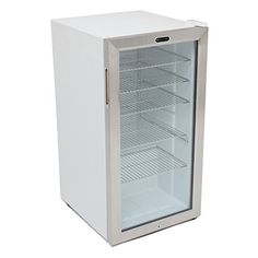 Capacity: 120 standard 12 oz. can. Stainless steel trimmed glass door with sleek white cabinet. Recessed handle provides a flush finish with the door. Mechanical temperature control with temperature range from high 30 Degree Fahrenheit – mid 60 Degree Fahrenheit. Soft interior LED lighting... - http://kitchen-dining.bestselleroutlet.net/product-review-for-whynter-br-128ws-beverage-refrigerator-with-lock-120-can-capacity-stainless-steel/