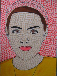 Roy Lichtenstein Inspired Pop-Art Portraits