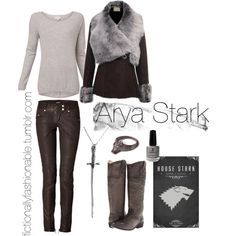 """Arya Stark"" by fictionallyfashionable on Polyvore"