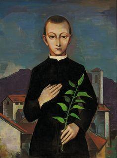 Karl Hofer (German, 1878-1955): Der Seminarist (1925).