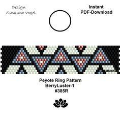 peyote ring pattern pdf,PDF-Download, instant download,ring #385R,2 variants, beading pattern, beading tutorials, ring pattern,pdf von bellepatterns auf Etsy
