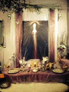 Sacred Legal Marriages in Glastonbury Goddess Temple Wiccan, Witchcraft, Glastonbury Town, United Kingdom Countries, She's A Lady, Temple Wedding, Handfasting, Paganism, Altars