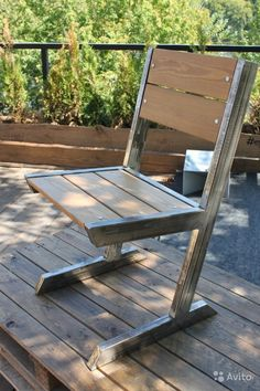 Adirondack chair, reclaimed wood DIY - Make this beautiful Adirondack Chair yourself! See this post for the Furniture Plans, instructions and supply list to build. Welded Furniture, Furniture Hardware, Steel Furniture, Industrial Furniture, Furniture Projects, Diy Furniture, Modern Furniture, Furniture Design, Furniture Plans
