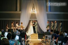 wedding altar fabric - pipe & drape rental - 8020