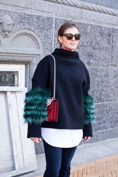 They Are Wearing: Copenhagen Fashion Week Fur Fashion, Fashion News, Fashion Looks, Runway Fashion, Copenhagen Style, Copenhagen Fashion Week, Olivia Palermo, 2016 Fashion Trends, Street Chic