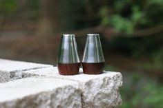 Mid-Century Modern Salt and Pepper Shakers - Danish Modern Salt and Pepper Set - Mid Century Decor on Etsy, $24.00
