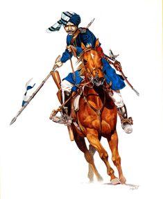 Bengal lancer, Illusration by Velimir Vukšić. Vintage Military Uniforms, Military Art, Military History, Commonwealth, Bengal Lancer, Warrior 1, British Soldier, British Army, The Great
