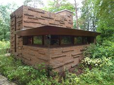 Seth Peterson Cottage Rear Exterior View - Frank Lloyd Wright.