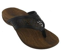 2afbfd45bc3bf Orthaheel Allegre Orthotic Thong Sandals with Cut-Out Detail