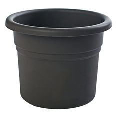 Bloem Posy Black Planter (Pack of 18) (8in is 8.7 inches in diameter x 6.9 inches high) (Plastic) #PP00-18