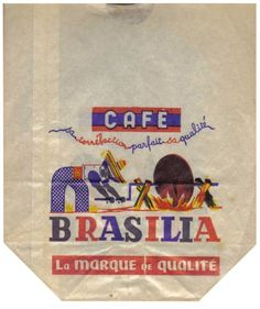 Present&Correct: Here is a selection of old coffee bags, tins and boxes from around the world