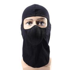 c17b6556069 CS Winter Warm Skiing Black Mask Outdoor Riding Windproof Cap Motorcycle  Hood