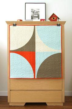 Graphic Modern Baby Quilt