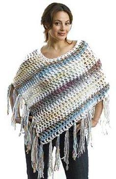 Free+Crochet+Flower+Patterns | Monster-in-law poncho