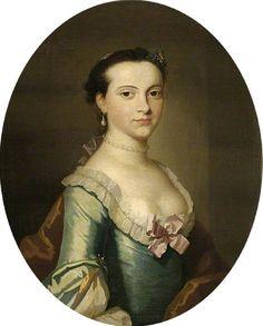 """Mrs Susannah Hope"", school of Thomas Hudson, ca. 1760; Fitzwilliam Museum PD.25-1952"