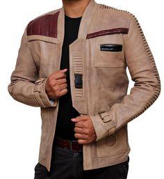 Finn John Boyega Poe Dameron Star Wars Leather Jacket - Best Deal