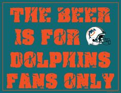Printable Miami Dolphins Man Cave Sign