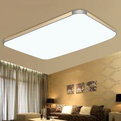 surface mounted modern led ceiling lights for living room light fixture indoor lighting decorative lampshade 72W  144W-in Ceiling Lights from Lights & Lighting on Aliexpress.com | Alibaba Group