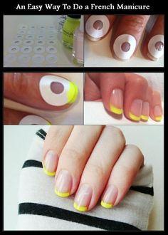 Super How To French Manicure Diy Beauty Nails Ideas Manicure Tips, Manicure Colors, Manicure At Home, Nail Tips, Home Nail Salon, Nail Polish Hacks, Diy Nails At Home, Nail Art Hacks, Do It Yourself Nails