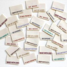 Limited Edition Multi Pack Metallic Thread - Pack of 8 Clothing Labels - Kylie and the Machine Kylie, Holographic Paper, Sewing Labels, Fabric Labels, With Love, Christmas Gift For You, Clothing Labels, Clothing Packaging, Sewing Notions