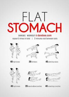 "Flat stomach ""Top 10 Awesome Workouts to Get You In Shape and Lose Weight Fast & Easy """