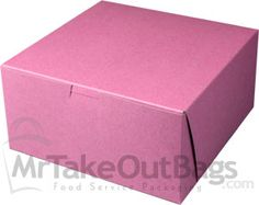 "8 x 8 x 4"" Pink Strawberry Tinted Cupcake / Deep Pie Boxes 
