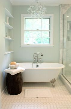 I like the refinished legs on this tub