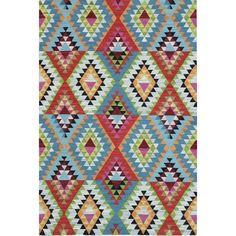 Alexandria Tribal Geometric Wool Flatweave