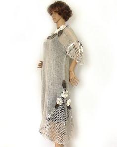 Knit dress Tunic dress Lace crochet dress Loose от allmadewithlove