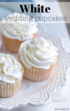 Carrot Cake Cupcakes topped with the fluffiest frosting and waiting for you to make them. Seriously BEST Carrot Cake Cupcakes Recipes EVER! Wedding Cupcake Recipes, White Cupcake Recipes, White Wedding Cupcakes, White Cupcakes, Wedding Cup Cakes, White Desserts, Best Carrot Cake Cupcake Recipe, Carrot Cake Cupcakes, Cupcake Cakes