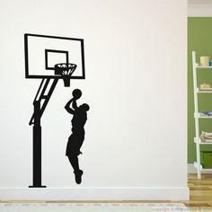 Stickers de silhouettes et personnages - Sticker Entrainement basket | Ambiance-sticker.com