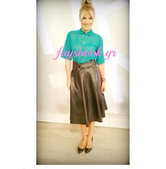 Pretty girl, Fay Skorda, in a pretty #midi skirt! #BSB_FW14