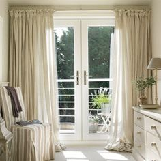 Beautiful Pair Of Natural Calico Curtains Http://natural Calico.myshopify.com