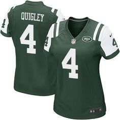 NFL New York Jets Ryan Quigley Women Game Green #4 Jerseys
