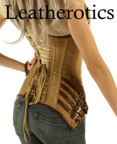 leather corset |steel boned corset | overbust corset