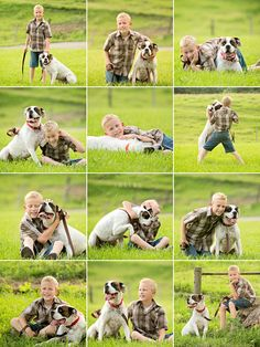 country chic portrait session little boy with his dog, Wyatt