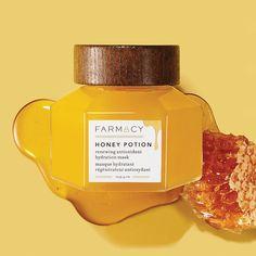 Honey Potion Renewing Antioxidant Hydration Mask - Farmacy | Sephora Honey Face Mask, Gel Mask, Hydrating Mask, Clean Makeup, Oily Skin Care, Sephora, Perfume Bottles, Skincare, Buy Makeup