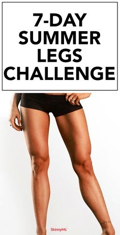 Summer Legs Challenge Beautifully toned and defined legs can now be yours year round with this at home workout. Take the Summer Legs Challenge and see for yourself! Beautifully toned and defined legs can now be yours year round with this at home wor At Home Workout Plan, At Home Workouts, Workout Plans, Leg Challenge, Summer Legs, Reduce Cellulite, Yoga Routine, Workout Routines, Pilates Workout Videos